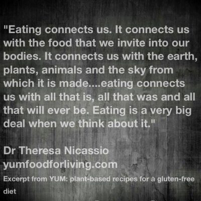 THE PSYCHOLOGY OF EATING from YUM: Plant-Based Recipes For A Gluten-Free Diet (p.. 1) by Dr. Theresa Nicassio