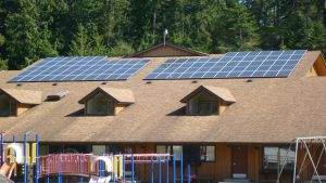 Pender School with solar panels