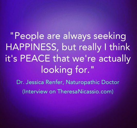 Dr. Jessica Renfer Quote during Interview on the Dr. Theresa Nicassio Show on 6Mar2017