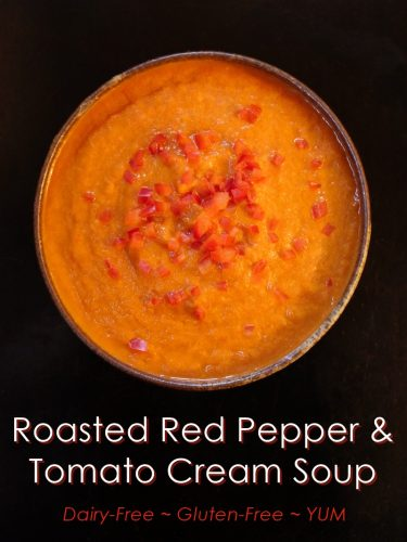 YUM's Roasted Red Pepper and Tomato Cream Soup | Recipe & Photo by Theresa Nicassio