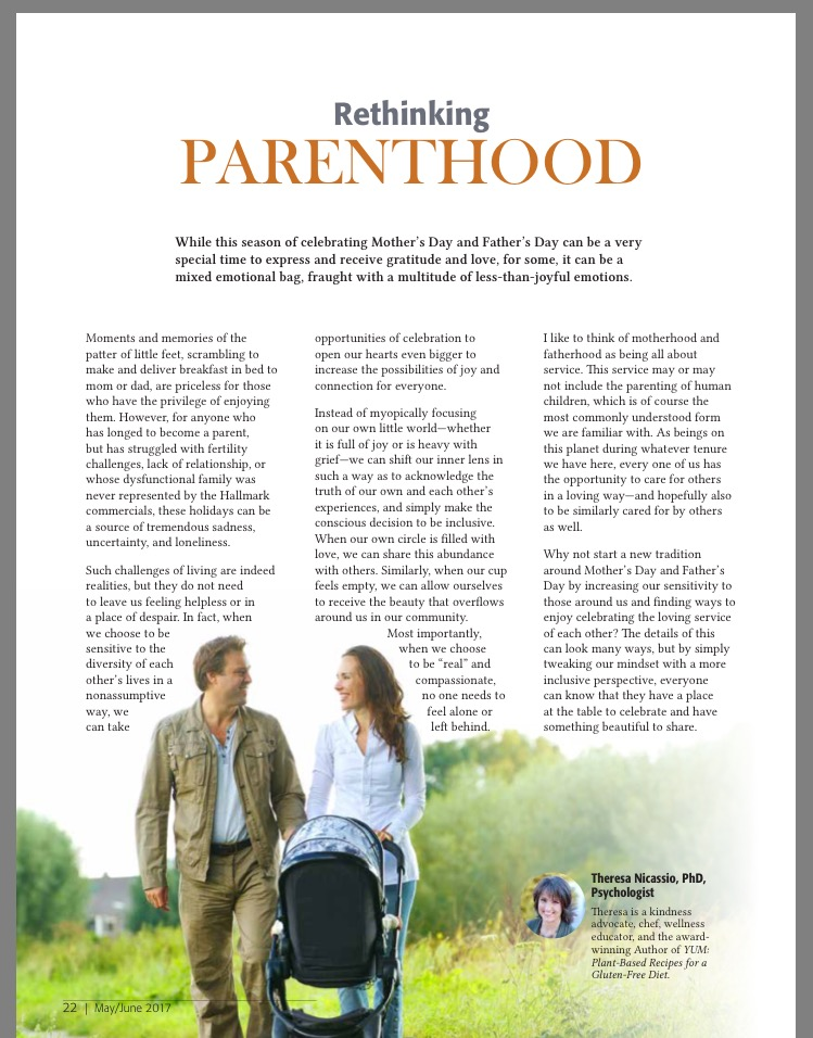 RETHINKING PARENTHOOD - Dr  Theresa Nicassio