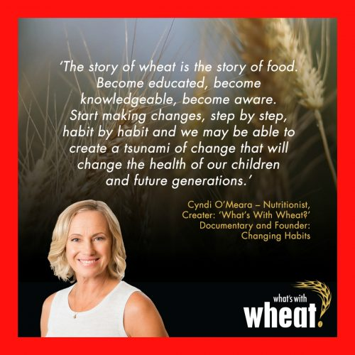 LISTEN as Nutritionist, Bestselling Author & Filmmaker Cyndi O'Meara talks about why WHEAT may be a major contributor to our current health crisis.